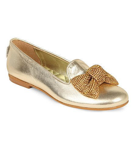STEP2WO Brana ballerina shoes 7-11 years (Gold+leather