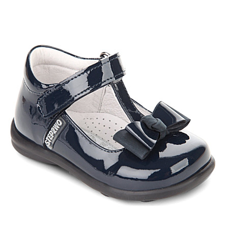 STEP2WO Pebbles T-bar shoes 1-3 years (Navy+patent