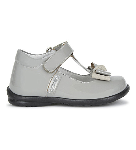 STEP2WO Pebbles patent-leather 6-24 months (Grey+patent