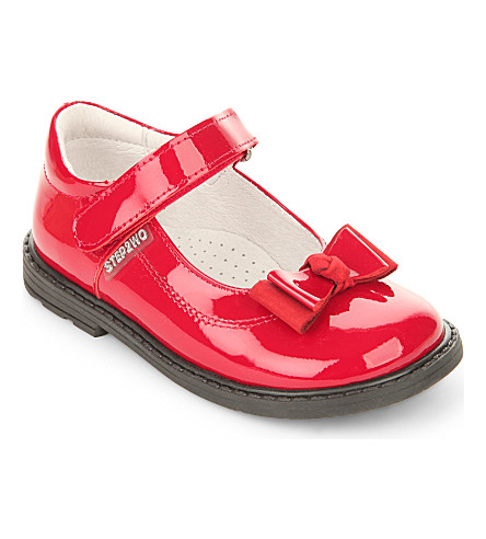STEP2WO Rita velcro bar shoes (Red+patent