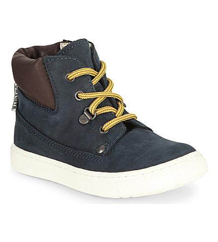 STEP2WO Paulie Nubuck unisex boots 2- 4 years (Navy+nubuck