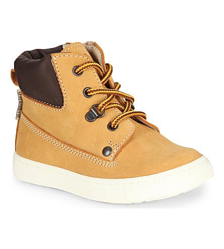 STEP2WO Paulie Nubuck unisex boots 2- 4 years (Yellow+nubuck