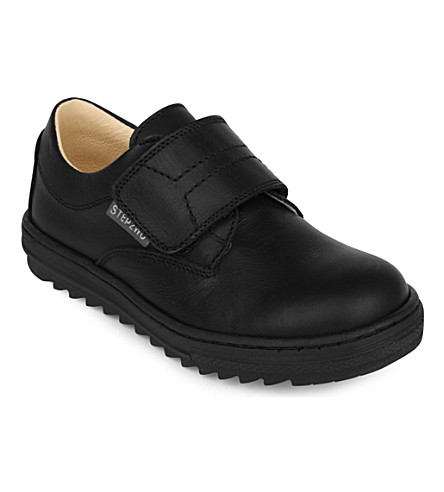 STEP2WO Lamp velco school shoes (Black+leather