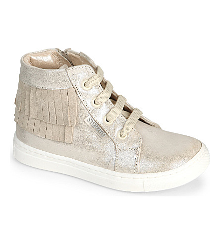 STEP2WO Mini Tonka metallic glitter trainers 2-10 years (Beige