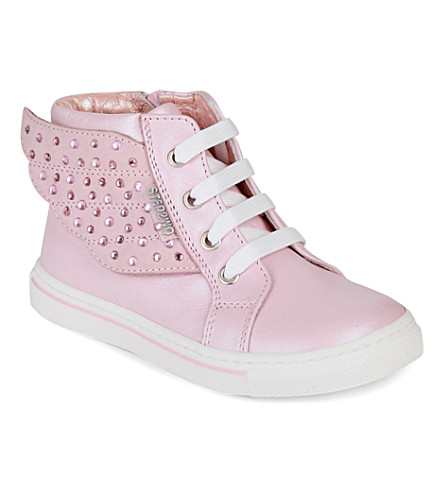 STEP2WO Angel leather trainers 6 months-5 years (Pink+leather