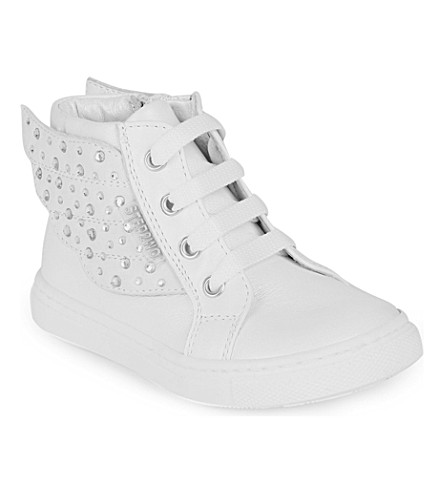 STEP2WO Angel leather trainers 6 months-5 years (White+leather