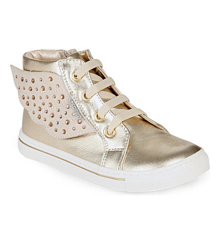 STEP2WO Angel leather trainers 6 months-5 years (Gold+leather