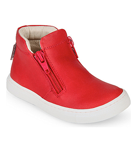 STEP2WO Maurice leather trainers 2-5 years (Red+leather