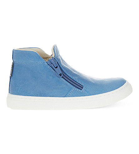 STEP2WO Maurice leather trainers 2- 4 years (Blue+leather
