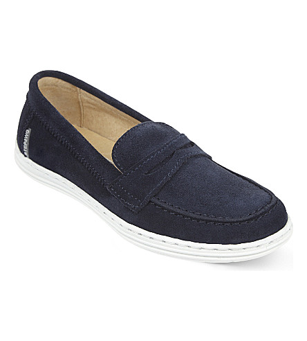 STEP2WO Hamish leather moccasins 6-11 years (Navy+suede