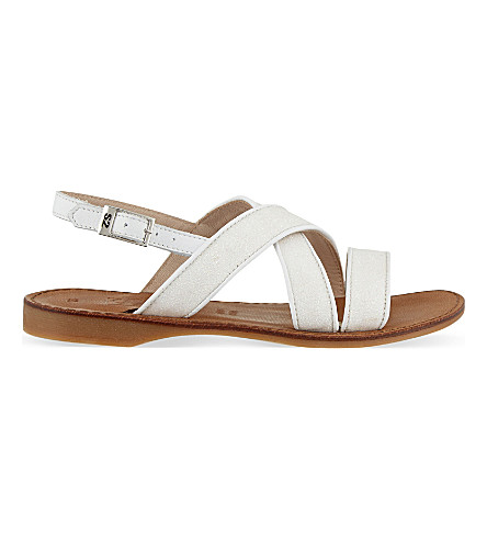 STEP2WO Confettipastel leather sandals 7-9 years (White