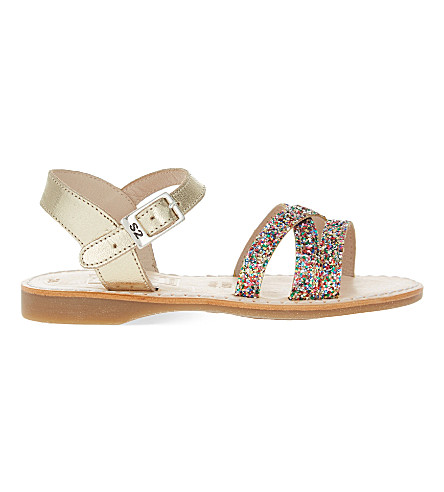 STEP2WO Selina leather sandals 4-8 years (Gold+leather