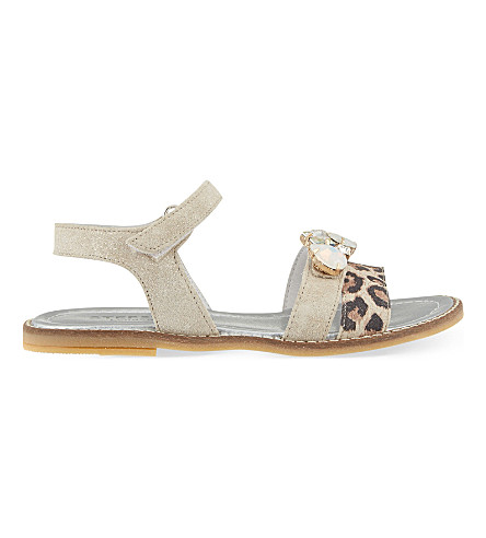 STEP2WO Papiro leather sandals 7-11 years (Leopard+print