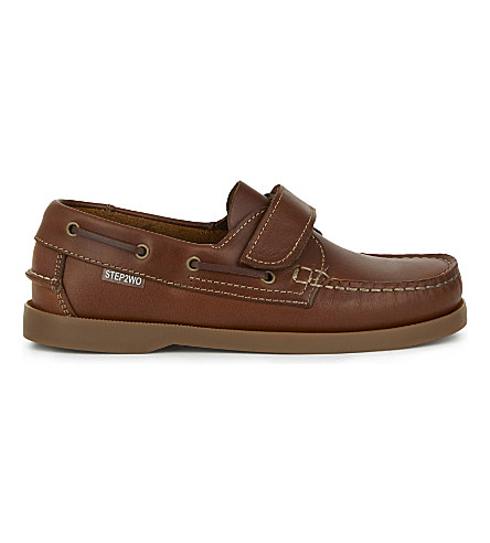 STEP2WO Starboard hook and eye leather shoes 4-12 years (Tan+leather