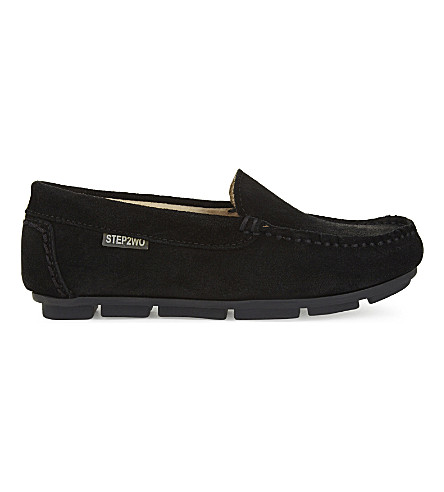 STEP2WO Brady suede loafers 6-12 years (Black-suede