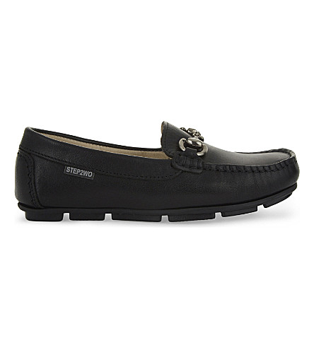 STEP2WO Charlie leather moccasins 7-11 years (Black+leather