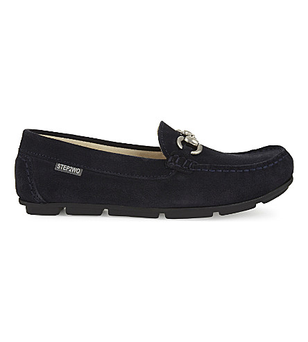 STEP2WO Charlie leather moccasins 7-11 years (Navy+suede