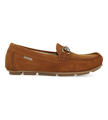 STEP2WO Charlie leather moccasins 7-11 years (Tan+suede