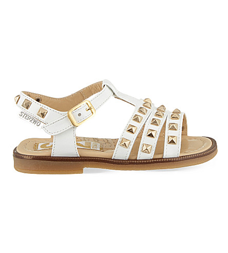 STEP2WO Mestre patent-leather gladiator sandals 3-7 years (White+patent