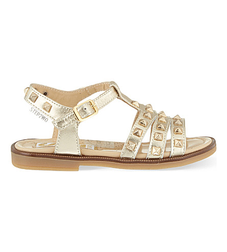 STEP2WO Mestre leather gladiator sandals 3-7 years (Gold+leather