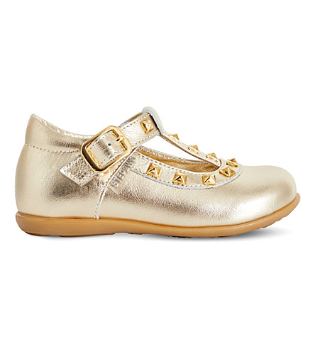 STEP2WO Minivenetia patent-leather pumps 1-4 years (Gold+leather