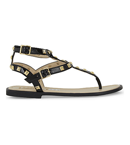 STEP2WO Lucretia stud sandals 7-11 years (Black+patent