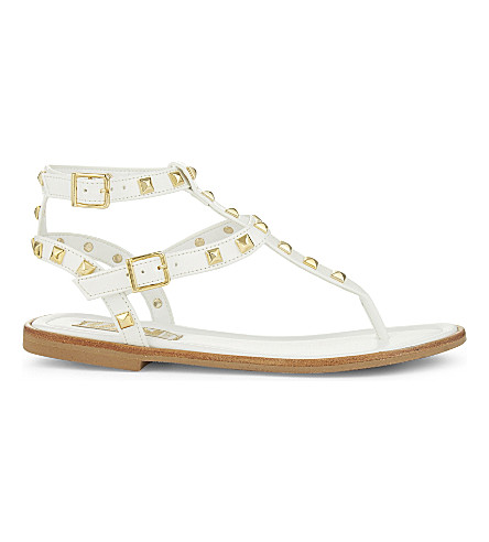STEP2WO Lucretia patent sandals (White+patent