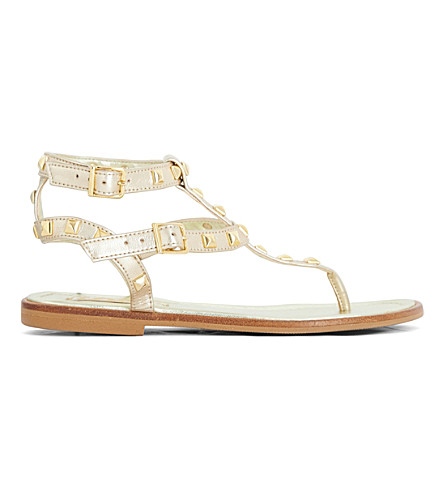 STEP2WO Lucretia stud sandals 7-11 years (Gold+leather