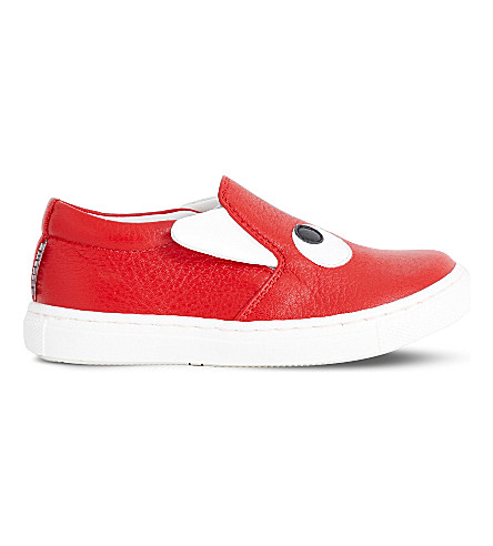 STEP2WO Boggle Boy leather skate shoes (Red+leather