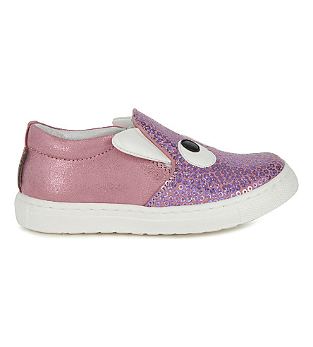 STEP2WO Boggle girl leather skater shoes 6 months-5 years (Pink+glitter