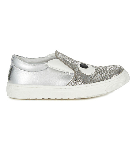 STEP2WO Boggle girl leather skater shoes 6 months-5 years (Silver+glitter