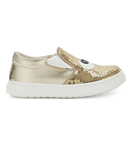 STEP2WO Bogglegirl sequin skate shoes 6 months-9 years (Gold+glitter