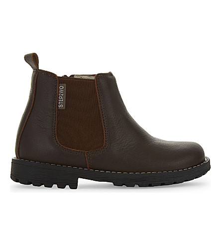 STEP2WO Michael 2 leather Chelsea boots 2-5 years (Brown+leather