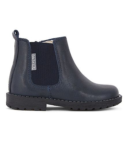 STEP2WO Michael 2 leather Chelsea boots 2-5 years (Navy+leather