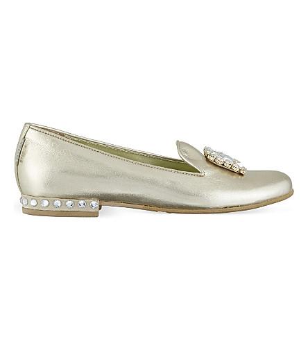STEP2WO Valma 水晶高跟鞋 (黄金 + 皮革