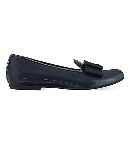 STEP2WO Vonina2 patent ballet flats 6-11 years (Navy+patent