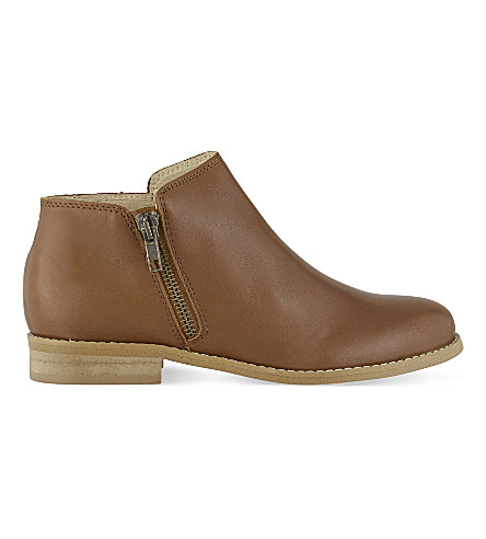 STEP2WO Gail leather ankle boots 7-11 years (Tan+leather