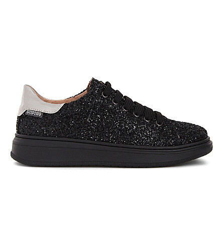 STEP2WO Ferris lace-up sneakers 7-11 years (Black+glitter