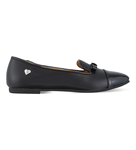 STEP2WO Mandy leather ballet flats 7-11 years (Black+leather