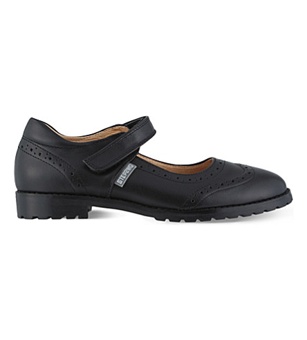 STEP2WO Regina 2 leather school shoes 7-11 years (Black+leather