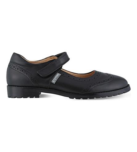 STEP2WO 里贾纳 2 皮革学校鞋履 7-11 岁(黑色 + 皮革