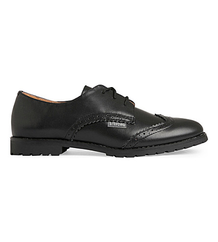 STEP2WO Stingford 2 leather school shoes 7-11 years (Black+leather