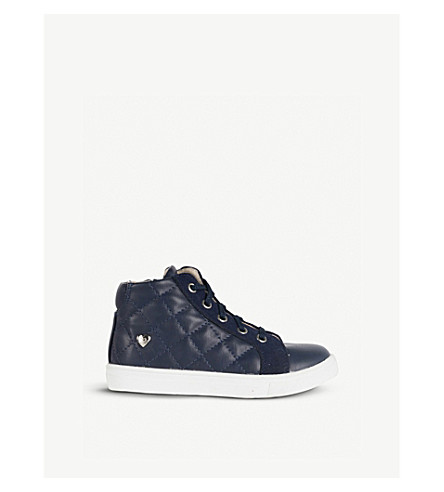 STEP2WO Precious leather trainers 3-6 years (Navy+leather