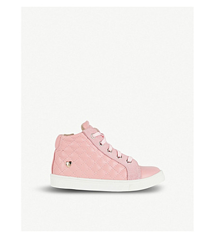 STEP2WO Precious quilted leather trainers 3-7 years (Pink+leather