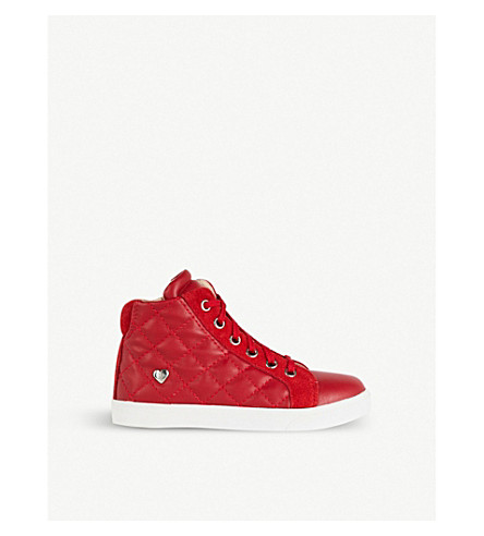 STEP2WO Precious leather trainers 3-6 years (Red+leather