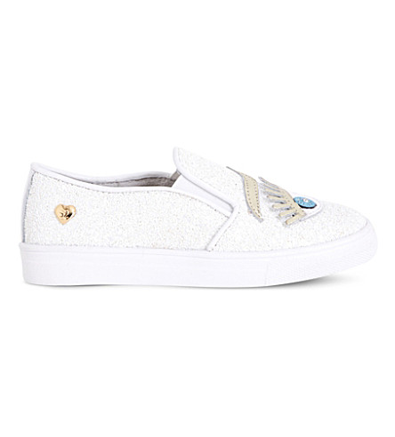STEP2WO Eyes2 glitter slip-on trainers 6-9 years (White