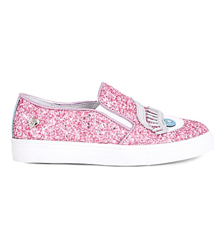 STEP2WO Eyes2 glitter slip-on trainers 6-9 years (Pink+glitter