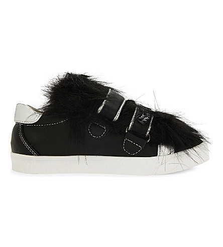 STEP2WO Bamba faux fur trainers 4-9 years (Black+leather