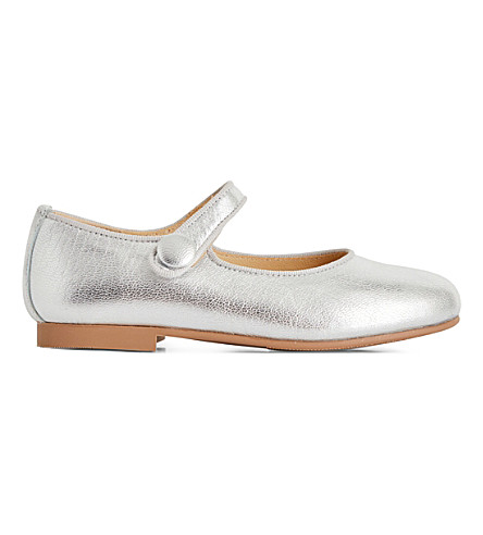 STEP2WO Charol metallic leather pumps 4-9 years (Silver+leather