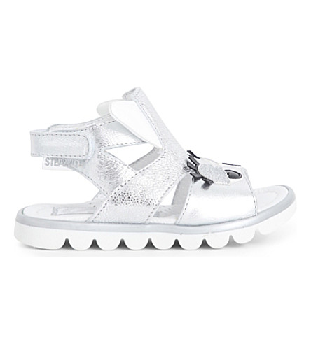 STEP2WO Cuckoo metallic-leather sandals 6 months - 7 years (Silver